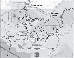 buffalo creek trail system mountain biking trails with