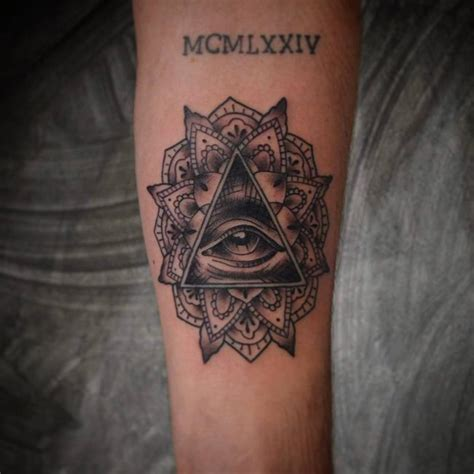 small illuminati tattoos 60 mysterious illuminati designs enlighten yourself
