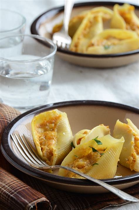 Stuffed Shells Recipe With Cottage Cheese by Savory Pumpkin And Cheese Stuffed Shells Recipe Martin