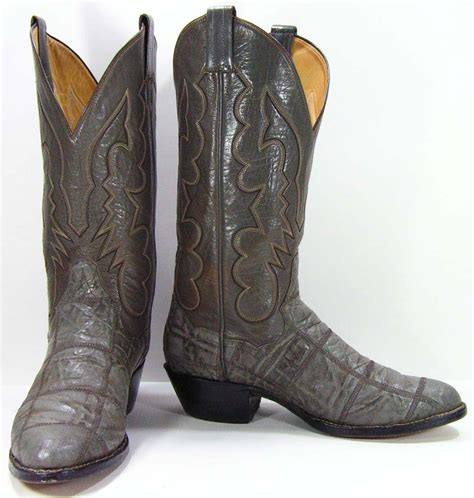 elephant skin boots vintage panhandle slim elephant skin cowboy boots mens 8 e or