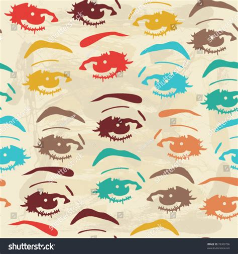 seamless eye pattern seamless background eyes endless eye pattern stock vector