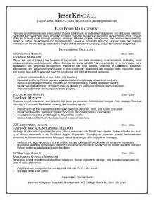 Fast Food Manager Resume Sample fast food restaurant manager resume fast food cook resumes