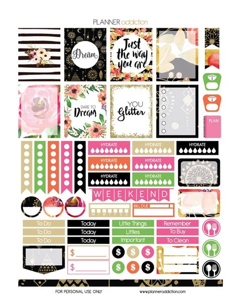 free printable planner stickers pinterest 25 best ideas about printable planner stickers on