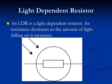 light dependent resistor and their characteristics ppt iv characteristics powerpoint presentation id 661185