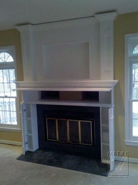 mantel with compartments opened secret hiding