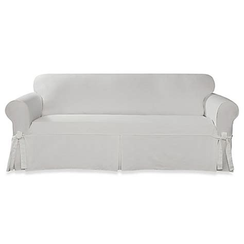 twill slipcovers for sofas buy sure fit 174 designer twill sofa slipcover in white from