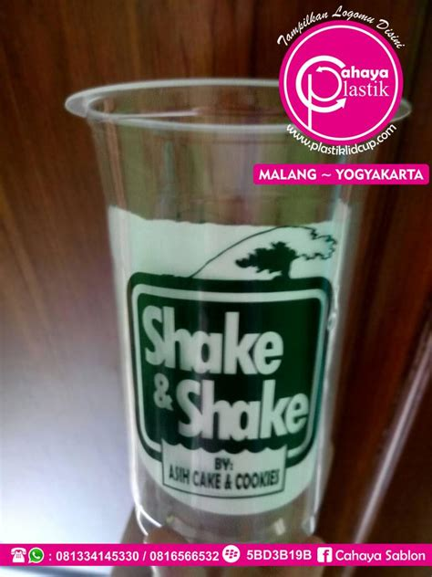 Plastik Tenteng Gelas Thai Tea jual sablon cup dan gelas plastik harga murah malang oleh cahaya plastik