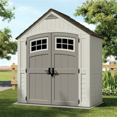 cascade 7ft x 4ft door plastic shed