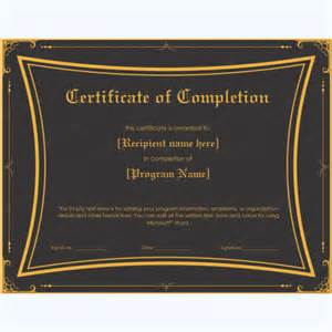 microsoft word certificate of completion template certificate of completion 20 word layouts