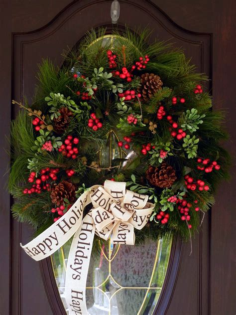 Handmade Door Wreaths - 16 beautiful handmade wreath designs style