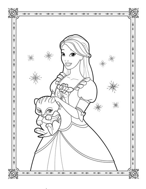 Genevieve Coloring Page Barbie In The 12 Dancing The Princess Coloring Pages Free Coloring Sheets