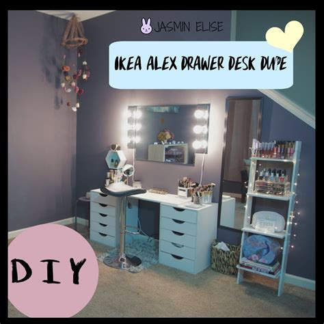 ikea alex desk drawer how to ikea alex drawer desk dupe diy makeup
