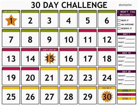 30 day calendar template the pink highlighter march 2014