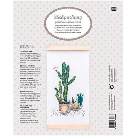 Broderie Tapisserie by Kit Broderie Tapisserie Cactus 20x36 Cm Design