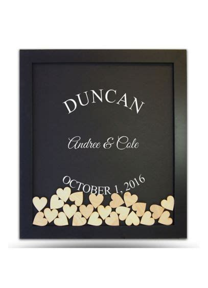 Pers Sweepstakes - pers arched name drop heart guest book frame david s bridal