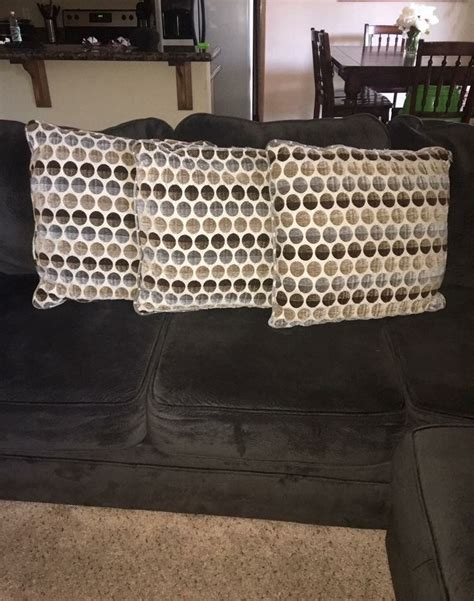 giant couch pillows letgo 3 large couch pillows in mettler ca