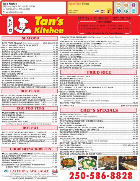 S Kitchen Menu by S Kitchen Parksville Bc 332 Island Hwy W Canpages