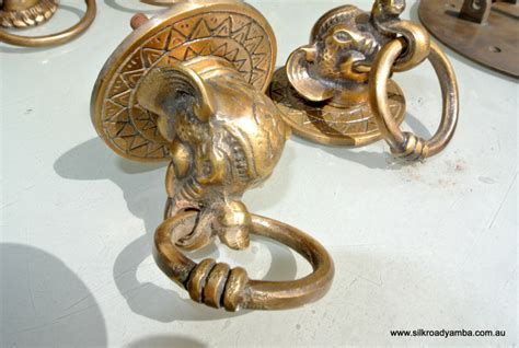 Elephant Drawer Pulls Knobs by 2 Elephant Pulls Handles Antique Solid Brass Vintage
