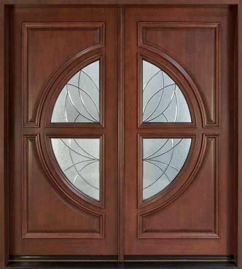 Mahogany Front Door With Glass Front Door Custom Solid Wood With Medium Mahogany Finish Modern Model Db 185 Cst