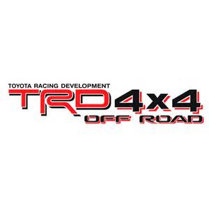 Toyota Decals Toyota Trd 4x4 Road Decals Decal County