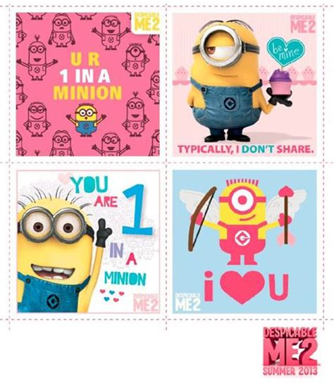 despicable me valentines last minute s day printable cards despicable me 2