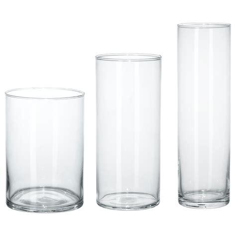 cylinder vase cylinder vase set of 3 clear glass ikea