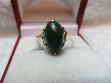 Liontin Bloodstone Ln 118 decorative antique 9ct gold oval shaped bloodstone gemstone ring cmb s quality gold rings