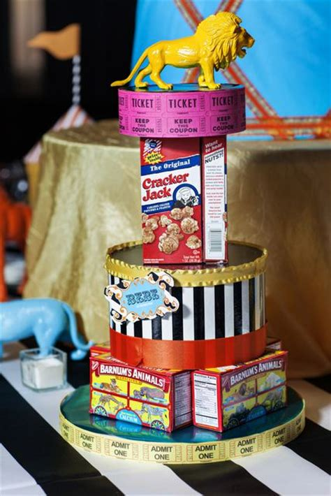 carnival themed table centerpieces circus baby shower ideas o connell cracker