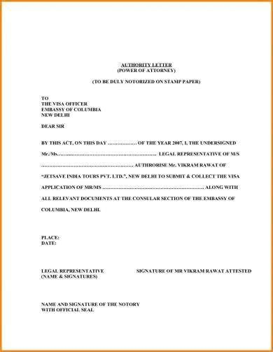 legal authorization letter examples examples