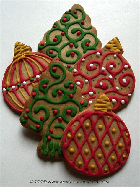ornaments and trees christmas cookies pinterest