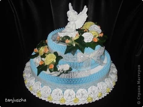 Origami Birthday Cake - how to make 3d origami birthday cake h豌盻嬾g d蘯ォn x蘯ソp b 225 nh