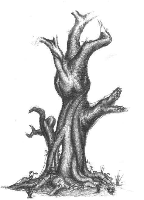 old dead tree sketch by samoorai on deviantart