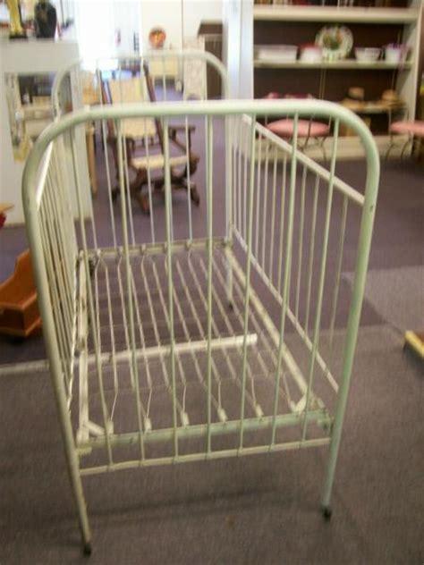 Antique Iron Baby Crib Antique Cast Iron Baby Bed Crib Size Circa 1940s