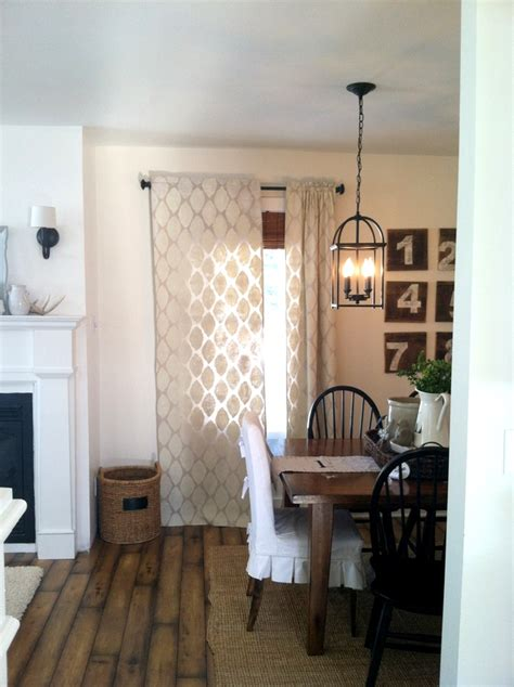 painted drop cloth curtains remodelaholic 45 diy painted curtain styles