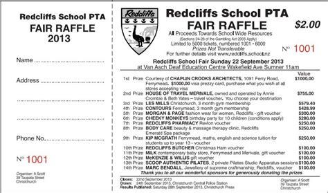 printing raffle tickets nz prize