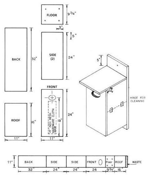 pattern for wood duck box birdhouse and nest box plans for several bird species