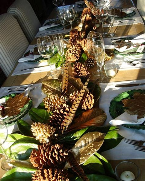 pine cone centerpieces fall decorating tips for the table