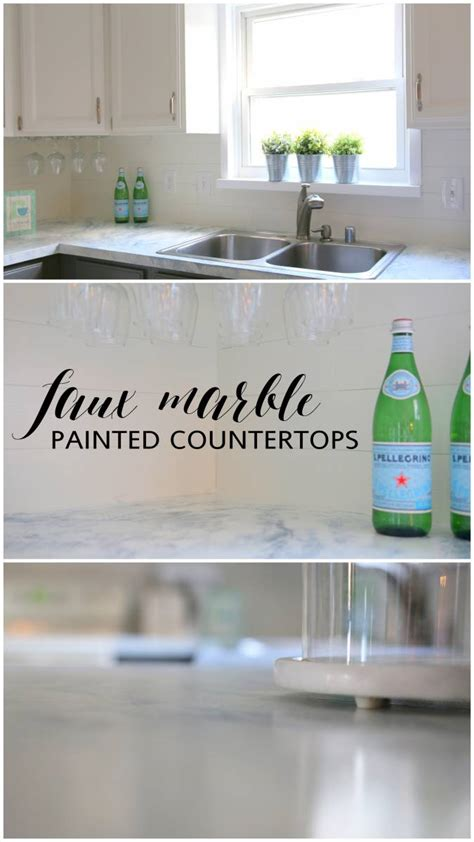 how to faux paint countertops faux marble painted countertops