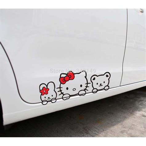Sticker Toyota Avanza Hello Kity car accessories hello car stickers lovely cat decal for toyota ford chevrolet volkswagen