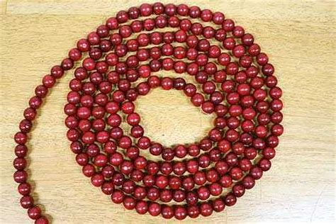 wood cranbery beads for christmas trees factory direct craft burgundy cranberry color wooden bead 9 foot new ebay