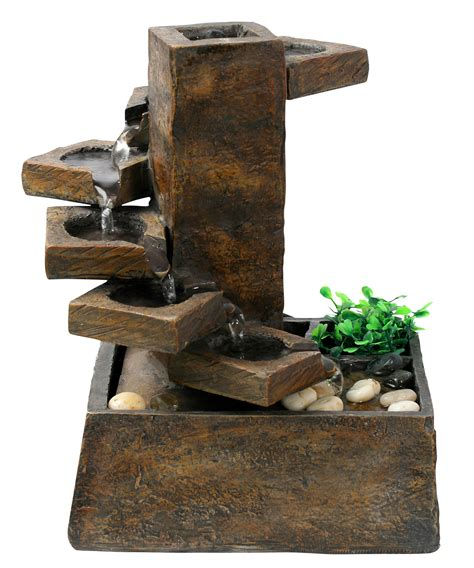 eternity tabletop fountain tiered stone by benzara at