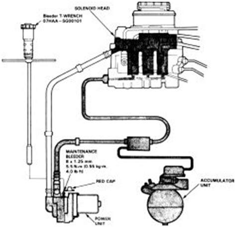 repair anti lock braking 1986 honda prelude electronic valve timing repair guides anti lock brake system alb pressure relief procedure autozone com