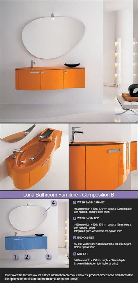 luna bathrooms wall hung bathroom furniture wood colour finishes luna