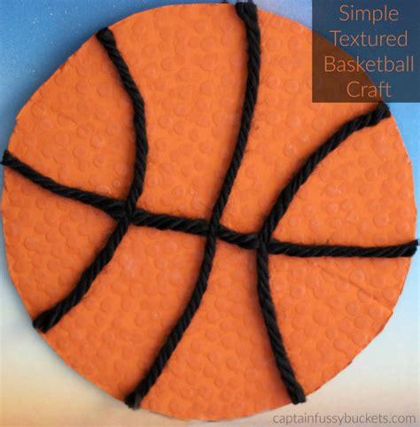 basketball crafts for textured basketball craft archives casa