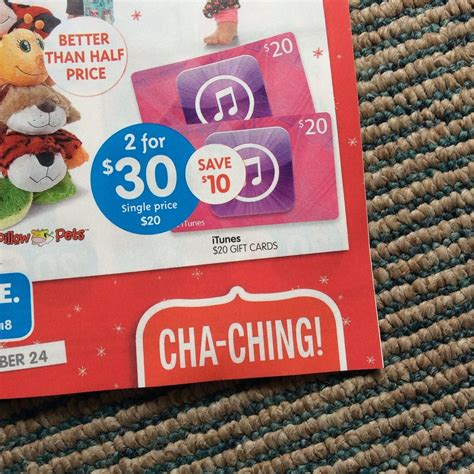 Big W Gift Cards Australia - itunes gift card 2x 20 for 30 25 off at big w ozbargain