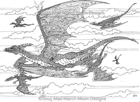 detailed coloring pages of dragons new dragon adult colouring 5 page pdf booklet now