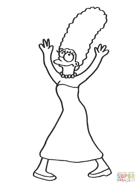 Homer Simpson Coloring Page Coloring Home Homer Coloring Pages