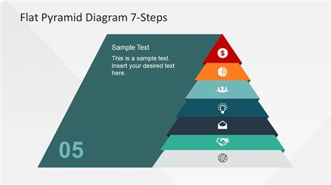 diagram steps narrowing pyramid chart levels slide slidemodel