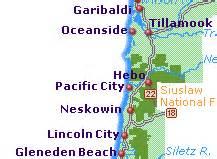 map of pacific city oregon pacific city oregon coast