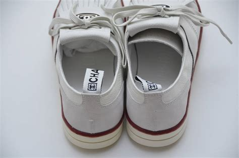 chanel sports shoes chanel new white golf or tennis shoes new 39 5 at 1stdibs